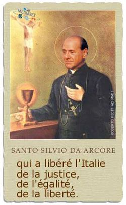 Berlusconi-santo