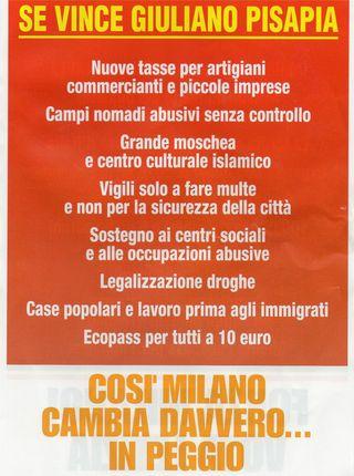 Volantino comitati pro Moratti