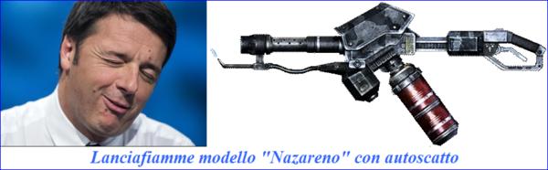 Renzi-lanciafiamme-nazareno